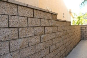 Decorative Block Wall Construction