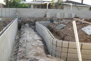 Block Fence Footings Retaining Walls