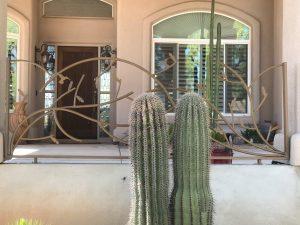 Ornamental iron fence in Scottsdale Arizona